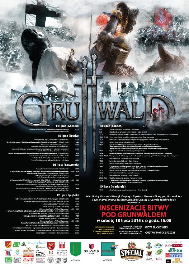 Oficjalny plakat inscenizacji Bitwy pod Grunwaldem