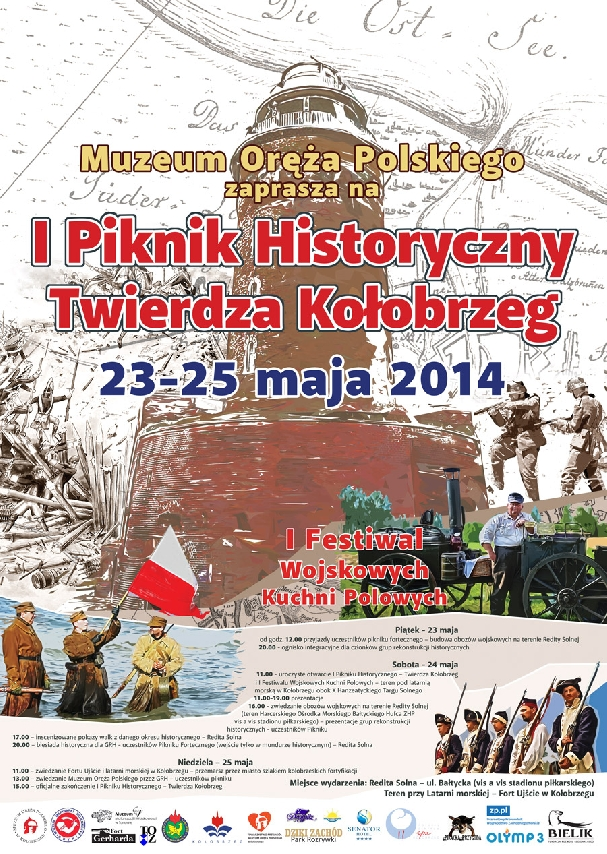 Oficjalny plakat: Piknik Historyczny Twierdza Kołobrzeg.