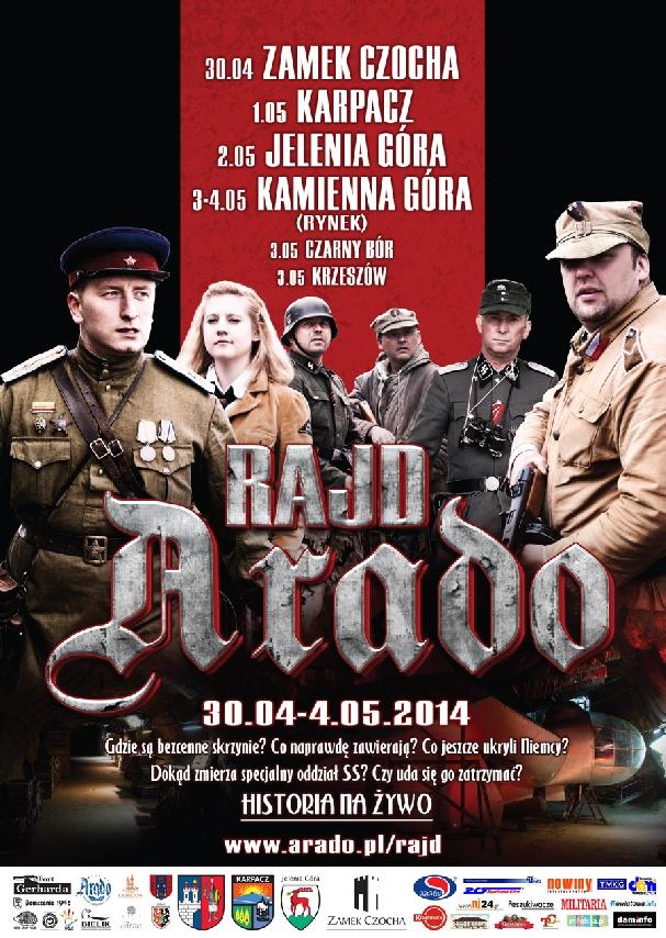 Oficjalny plakat: Rajd Arado 2014
