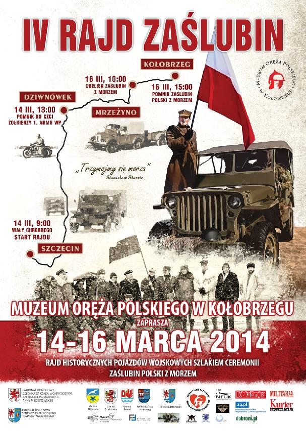 Oficjalny plakat: Rajd Zaślubin 2014