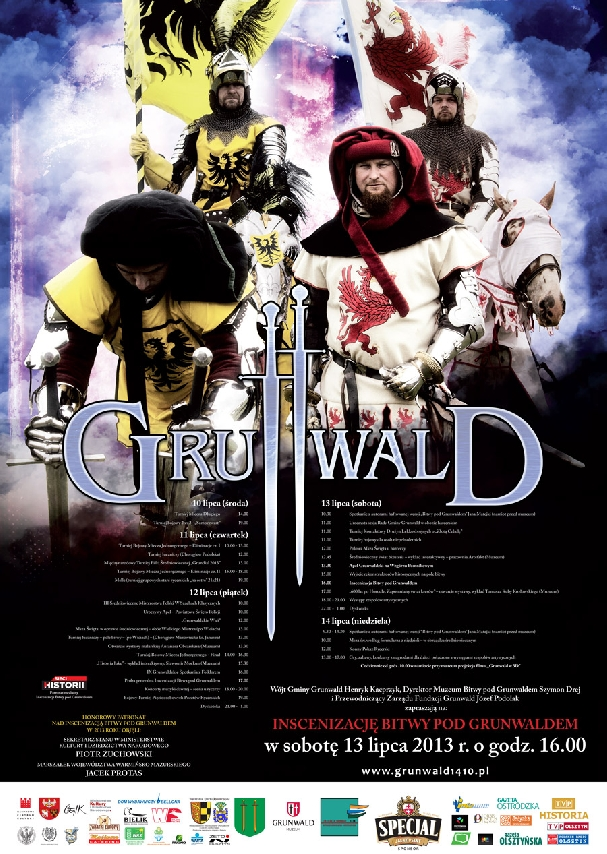 Oficjalny plakat: Bitwa pod Grunwaldem 2013
