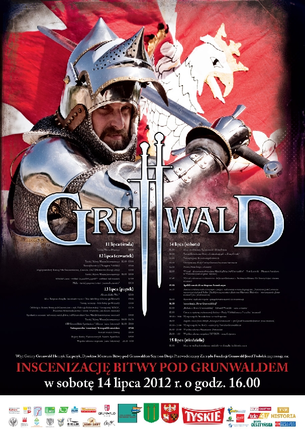 Oficjalny plakat: Bitwa pod Grunwaldem 2012