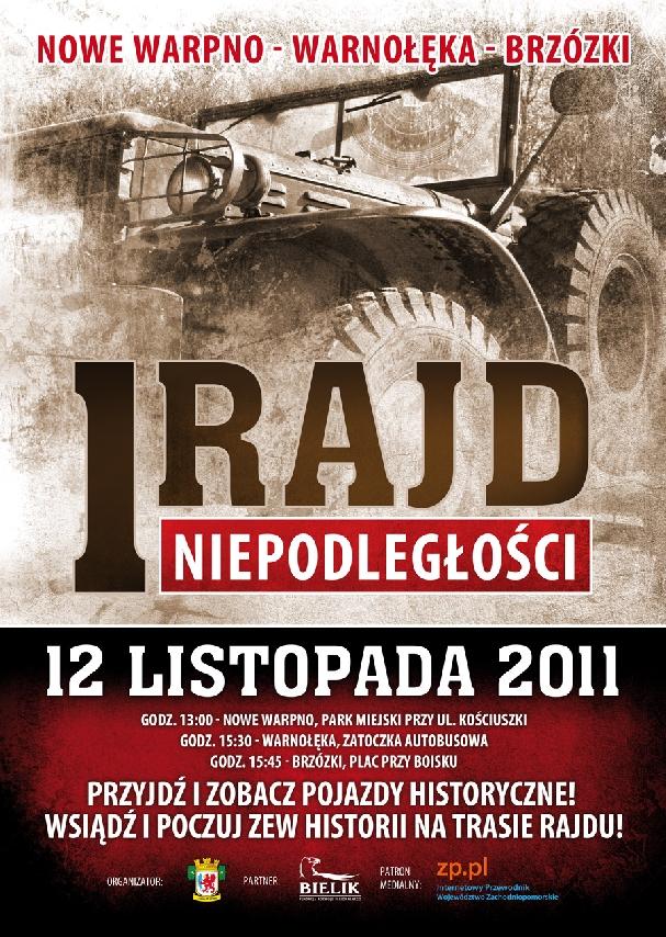 Oficjalny plakat: Rajd Niepodległości 2011