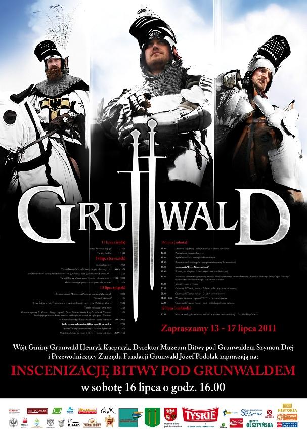 Oficjalny plakat: Bitwa pod Grunwaldem 2011