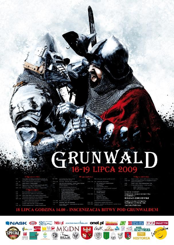 Oficjalny plakat: Bitwa pod Grunwaldem 2009
