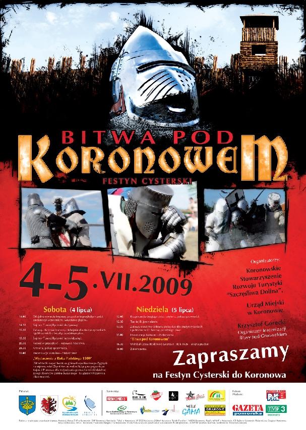 Oficjalny plakat: Bitwa pod Koronowem 2009