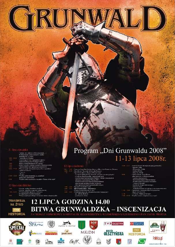 Oficjalny plakat: Oficjalny plakat: Bitwa pod Grunwaldem 2008